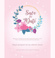 flowers wedding flower floral label ornament card vector image