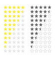 gold stars rating vector image vector image