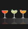 grey goose cherry noir cherry cosmo cocktail vector image vector image
