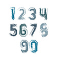 Handwritten colorful freak numbers stylish digits vector image vector image