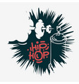 hip hop design with a graffiti spray can baloon vector image vector image