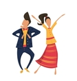 Hipsters dancing in retro clothes vector image