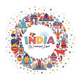 india set asia country indian architecture vector image
