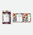 label packaging jar marmalade pattern berries mix vector image vector image
