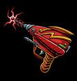 laser gun vector image