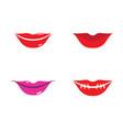 lips logo template vector image