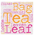 Loose Leaf Tea In The United States A Short vector image vector image