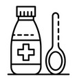 medical syrup icon outline style vector image vector image