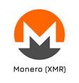 monero xmr crypto coin ico vector image