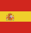 national flag of spain vector image vector image