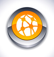 Network 3d button vector image vector image