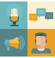 podcast concepts in flat style vector image vector image