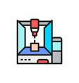professional 3d printer 3 dimensional model flat