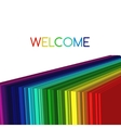 Rainbow colored 3d barcode background vector image vector image