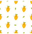 seamless pattern with funny lemon characters vector image