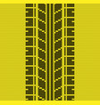 seamless yellow tire track knitting vector image vector image