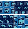 Set of Africa-themed seamless patterns vector image