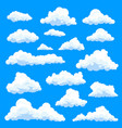 set of isolated eddy or clouds at sky vector image