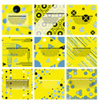 set of of abstract geometric pattern and vector image vector image
