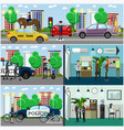 set of police concept posters banners vector image vector image