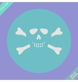 Skull and bones - a mark of the danger warning vector image