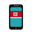 smartphone video play button online app vector image
