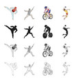 sports karate athlete and other web icon in vector image vector image