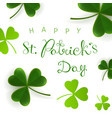 st patricks day greetings vector image vector image