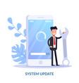 system update concept cartoon vector image
