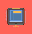 tablet icon set of great flat icons use for vector image vector image