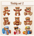 teddy bears set part 2 vector image