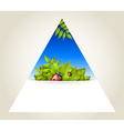 Triangular spring background vector image vector image