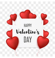 valentines day background with heart balloons vector image vector image