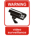 Video surveillance sign CCTV Camera vector image vector image