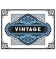 vintage card elements by layers vector image vector image