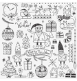 Winter holidays - doodles set 2 vector image vector image