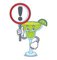 with sign margarita character cartoon style vector image