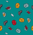 cryptocurrency flat outline isometric pattern vector image