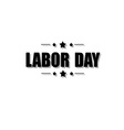 Labor day stamp vector image