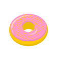 strawberry donut isolated baking sweets on white vector image