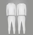 white hooded tracksuit vector image