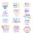 baby shower sign boy or girl newborn kids vector image