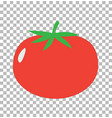tomato on transparent tomato sign flat style vector image