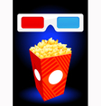 3D movie objects vector image vector image