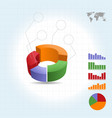 4 piece pie graph infographic vector image vector image