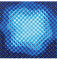 abstract blue halftone background vector image vector image
