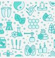 alternative medicine seamless pattern vector image vector image
