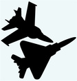 an f 18 jet fighters flying in sky vector image vector image