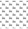 baby bed pattern seamless vector image