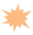 bang halftone icon vector image